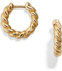baublebar petra huggie hoop earrings in gold at nordstrom