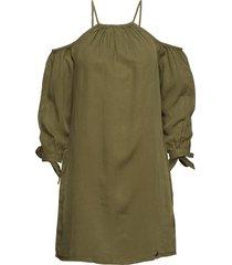 eden cold shoulder dress kort klänning grön superdry