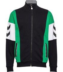 hmlclaus zip jacket sweat-shirt tröja svart hummel hive