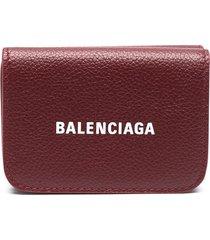 balenciaga cash mini wallet - red