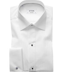 eton smoking overhemd wit plissé contemporary fit