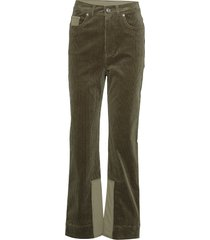 stretch corduroy pantalon met rechte pijpen groen ganni