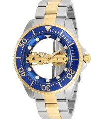 reloj invicta acero dorado modelo 262kc para hombres, colección pro diver