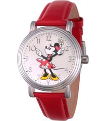 disney minnie mouse women's silver vintage alloy watch