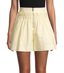 ruffle high-waist cotton shorts