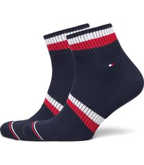 th men quarter 2p pete underwear socks regular socks blå tommy hilfiger