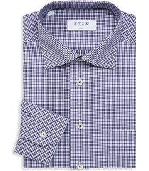classic-fit gingham dress shirt