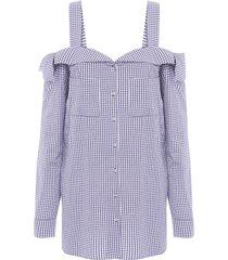 camisa feminina pitti - azul