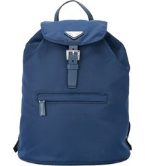 prada pre-owned logos backpack hand bag - blue