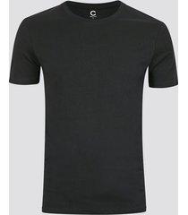 slim t-shirt i bomull - svart