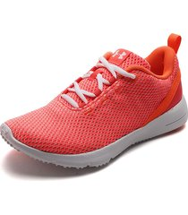 tenis running coral-blanco under armour ua w squad 2