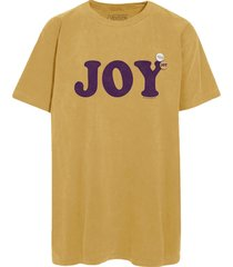 newtone t-shirt joy mustard geel