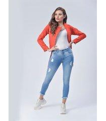 pantalón jeans dama azul di bello jeans ® classic jeans ref j129