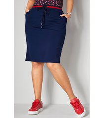 kjol janet & joyce marinblå