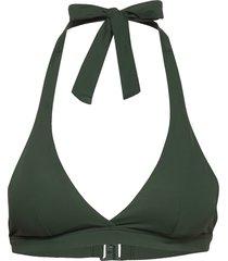 bra swim linn triangle bikinitop grön lindex
