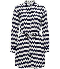 d1. zigzag shirtdress dresses everyday dresses svart gant