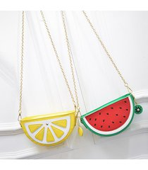 watermelon orange shaped bag evening clutch bag fruit chain messenger small cros