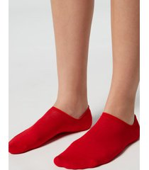 calzedonia unisex cotton no-show socks man red size 37-39