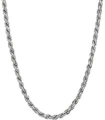 basic sterling silver curb chain necklace/26""