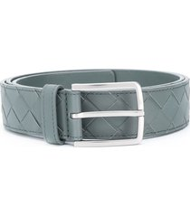 bottega veneta woven leather belt - green