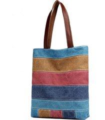 borsa a tracolla in ecopelle borsa patchwork casual in tela