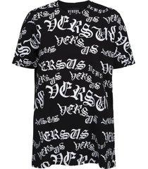 t-shirt jersey regular zwart