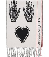 alexander mcqueen mystic selvedge logo scarf