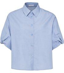 opus blouse fansk chambray