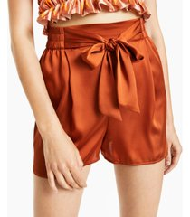 bar iii tie-front shorts, created for macy's
