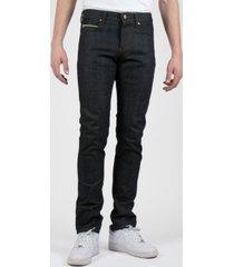 naked & famous denim super guy - rick sanchez wubba lubba dub dub selvedge men's jeans