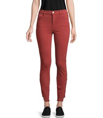 frame denim women's le high cutout-cuff skinny jeans - burnt - size 25 (2)