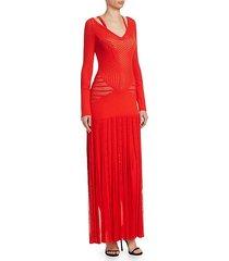 knit cutout long dress