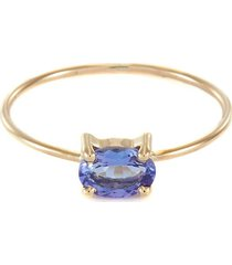 'indigo' tanzanite 10k yellow gold ring