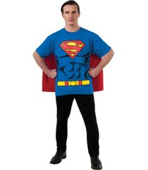 buy seasons men's superman t-shirt costume kit