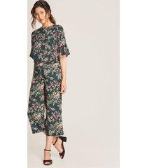pantalón culotte floral verde 10