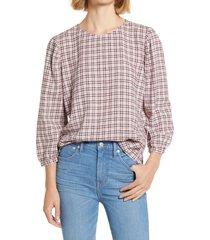 women's treasure & bond sleeve detail top, size xx-small - pink