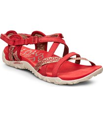 terran lattice ii shoes summer shoes flat sandals röd merrell