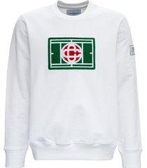 casablanca tennis court sweatshirt with sponge logo