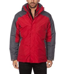 marqt men's hooded 3 in 1 system jacket