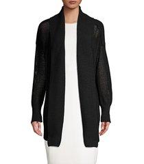 donna karan women's knit open front cardigan - ivory - size xs/s