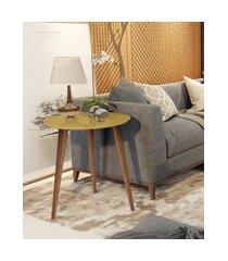 mesa de apoio retrô cissa - dourado - compre aqui