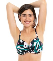 bikini estilo sostén torcido copa c estampado samia