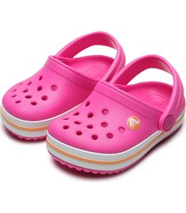 babuche crocs infantil clog rosa - tricae