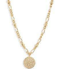 women's gorjana banks coin pendant necklace