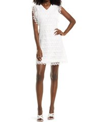 amy lynn flutter sleeve lace dress, size large in white at nordstrom