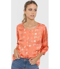 camisa coral etam ambar lux