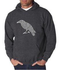 la pop art men's word art hooded sweatshirt - the raven