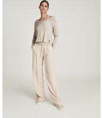 reiss ada - fine jersey double layer top in neutral, womens, size xl