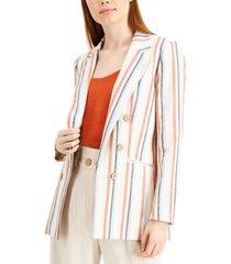 bar iii striped peak-lapel blazer, created for macy's