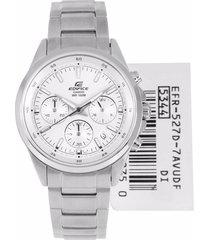 reloj casio efr-527d-7apara caballero lujoso plateado